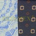 tkanina, vrchní zátěr PVC 200gr/transparent-bavlna tisk mix-š.142 cm , výprodej
