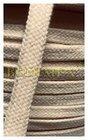 šňůrka bavlněná-pletená dutinka-pr.8 mm-barva přírodní režná