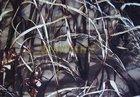 maskáč polyester 600D/600D/PVC nános-potisk rákosí tmavé