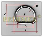 polokroužek kovový svař. 18 mm (3,0)-nikl, výprodej