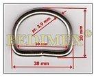 polokroužek kovový svař. 30 mm (3,9)-nikl