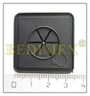 průchodka pro sluchátka,čtverec-35x35mm,černá