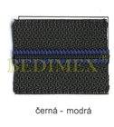 zdrh-pás WS 10 černý+modrý proužek-S60