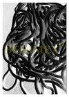 šňůrka elastická pletená PES-pr.3 mm černá - cívka 150 m