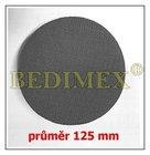 samolepící suchý zip na brousící kotouče 125 mm, háček černý