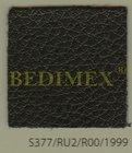 koženka černá lesk+perforace 611 (610gr/m2), š.140 cm
