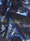 polyester 600D/600D/PVC nános-potisk černomodrý, doprodej