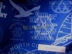polyester 600D/600D/PVC nános-potisk modrý text
