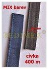 bavlněná zdrhovadlovka 16 mm barvený MIX